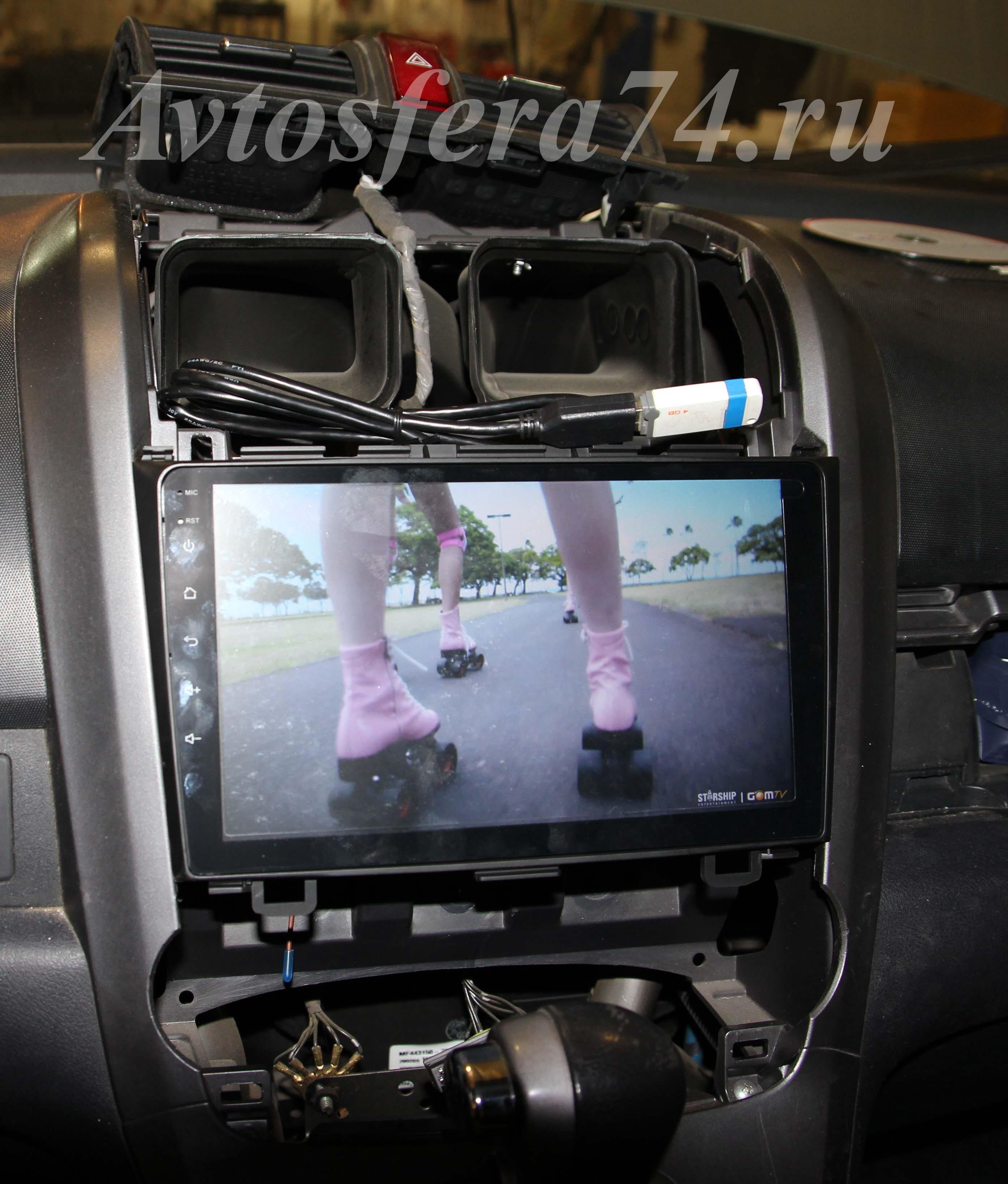 удаление штатной магнитолы хонда 2007