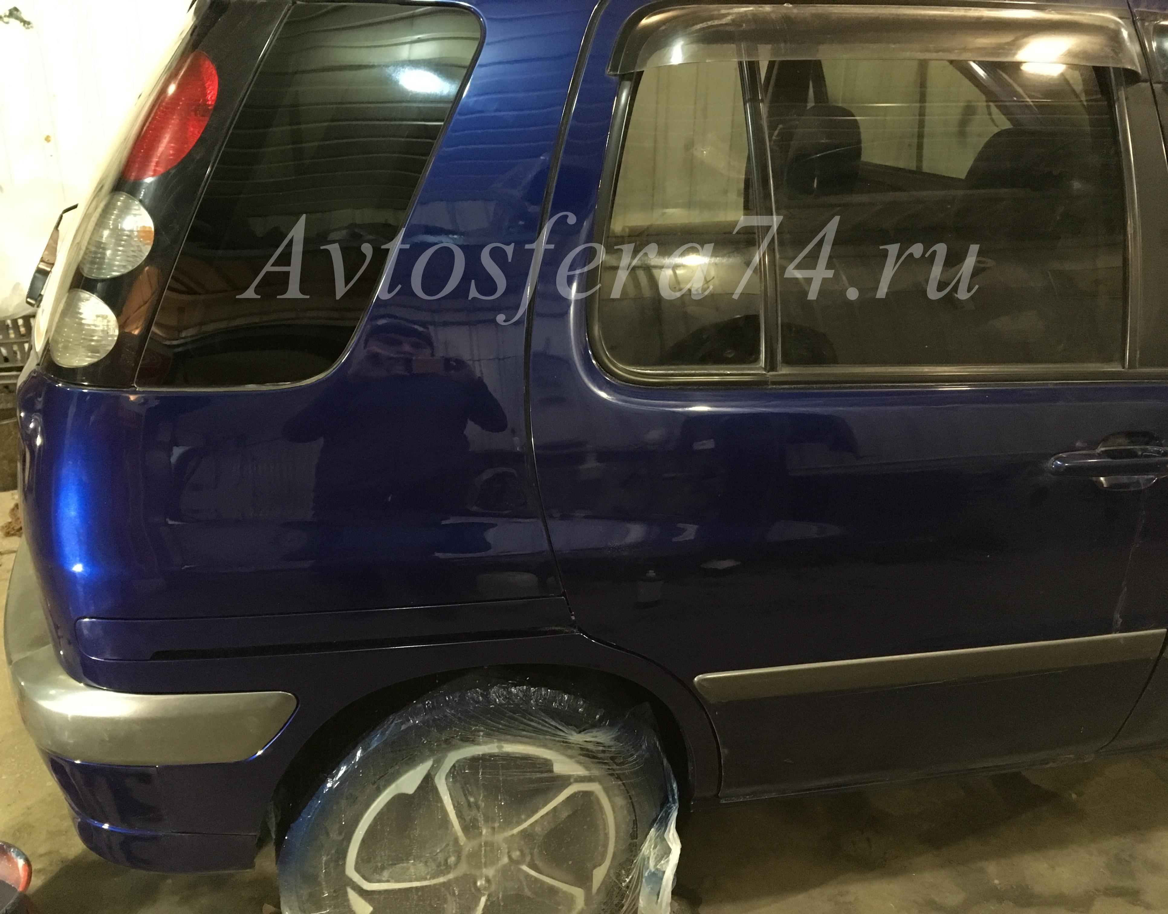 Toyota Raum восстановление бампера