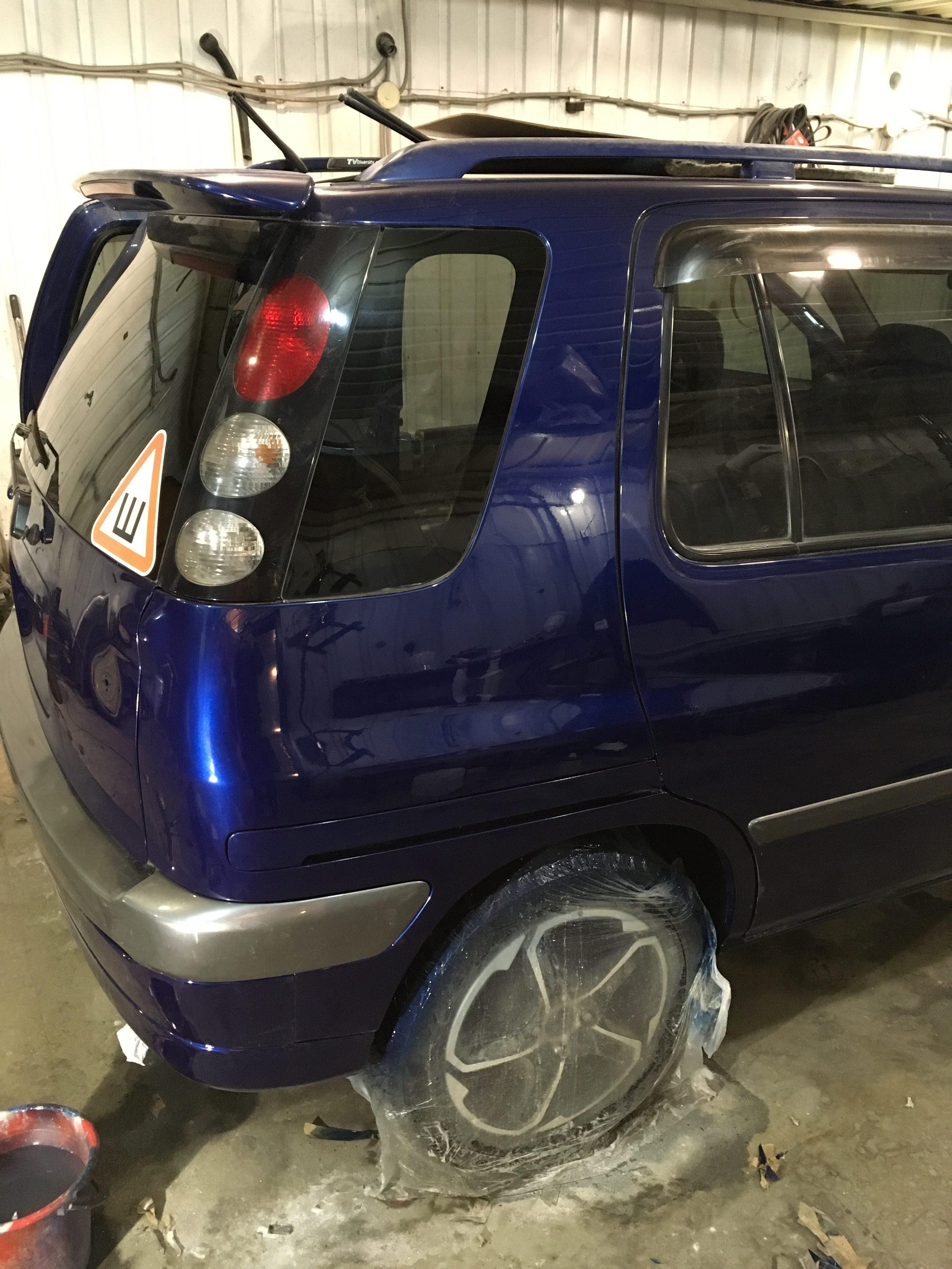 Toyota Raum восстановление крыла