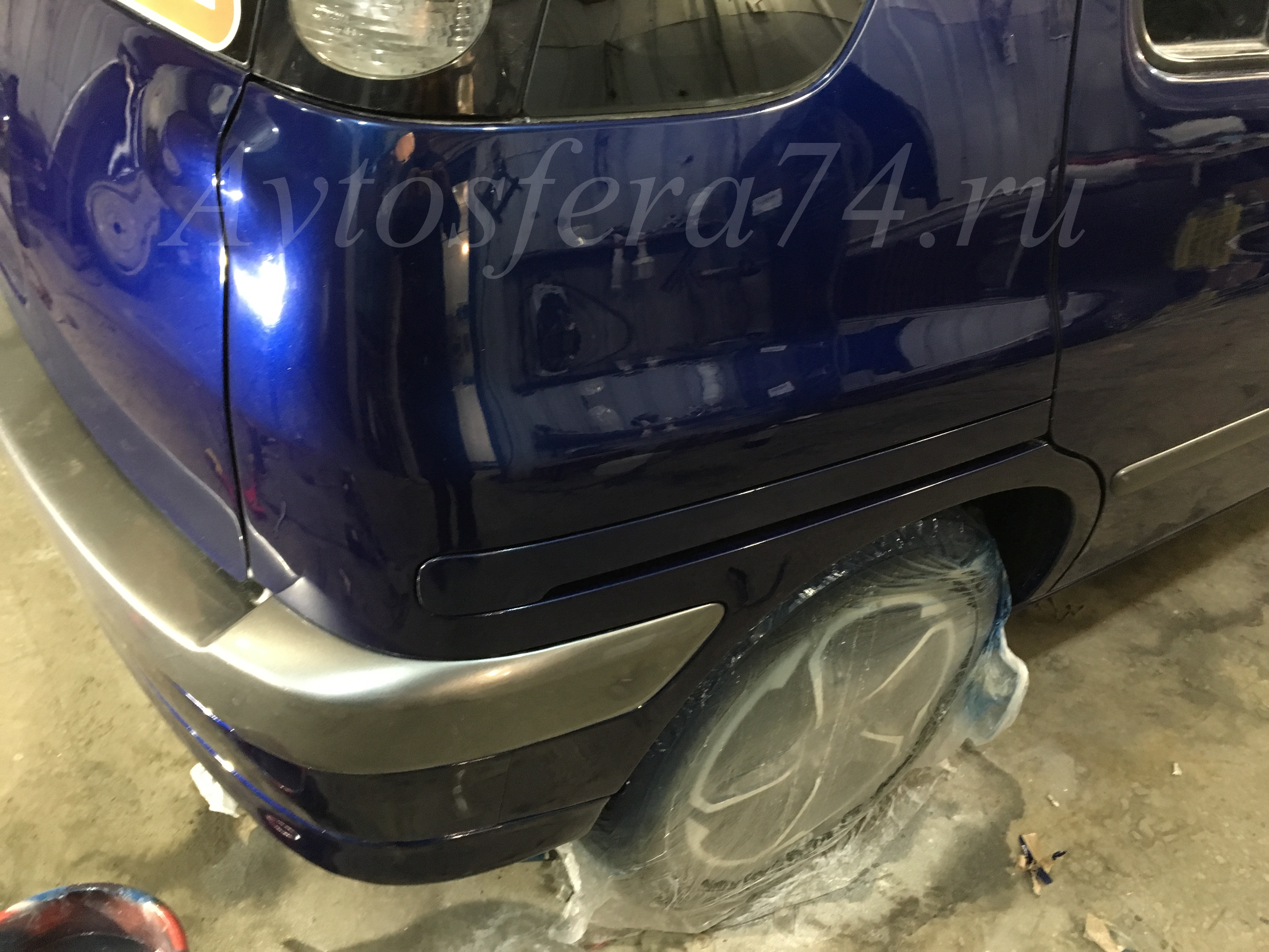 Toyota Raum ремонт бампера и крыла