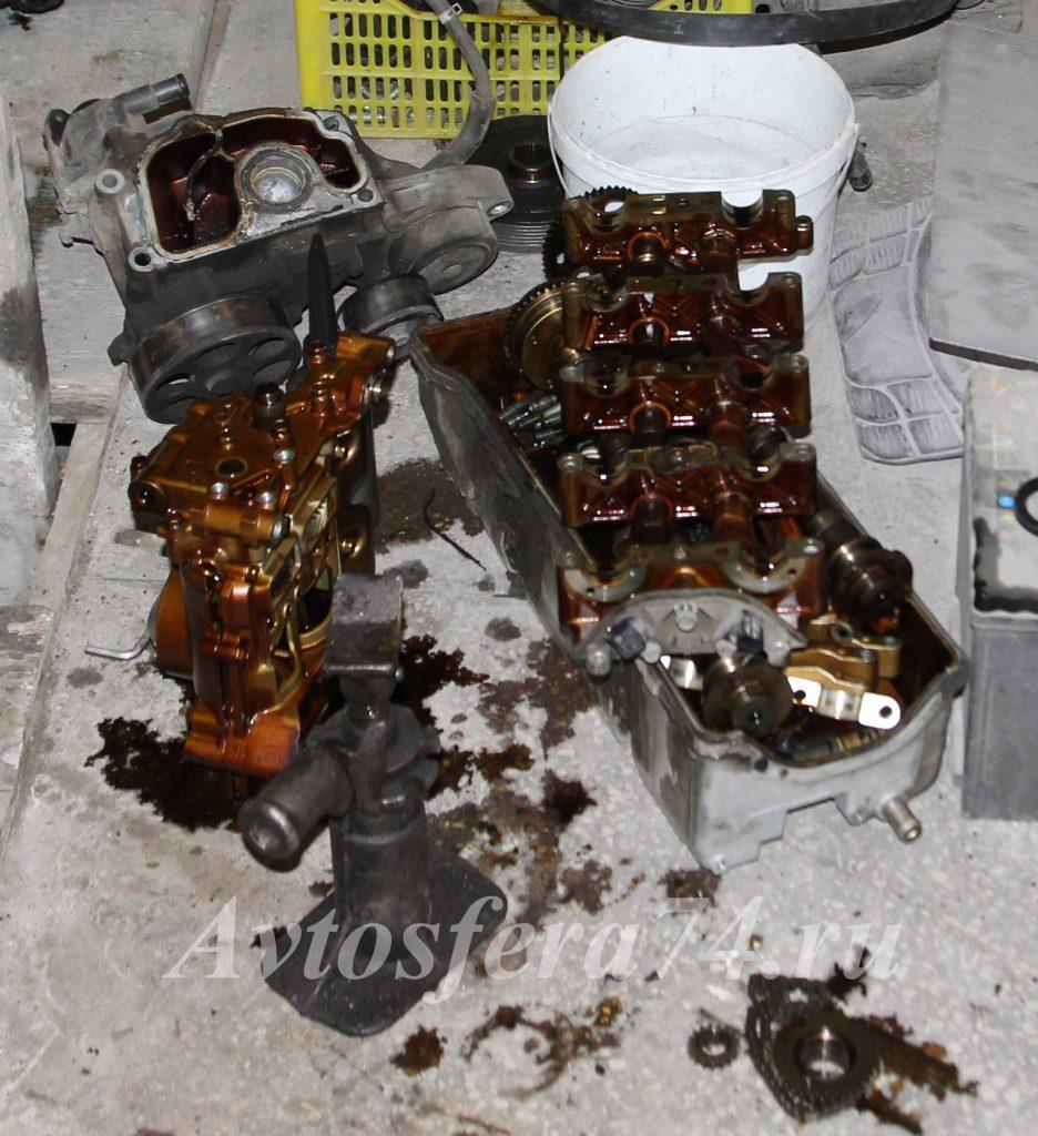 honda element в антифриз попало масло