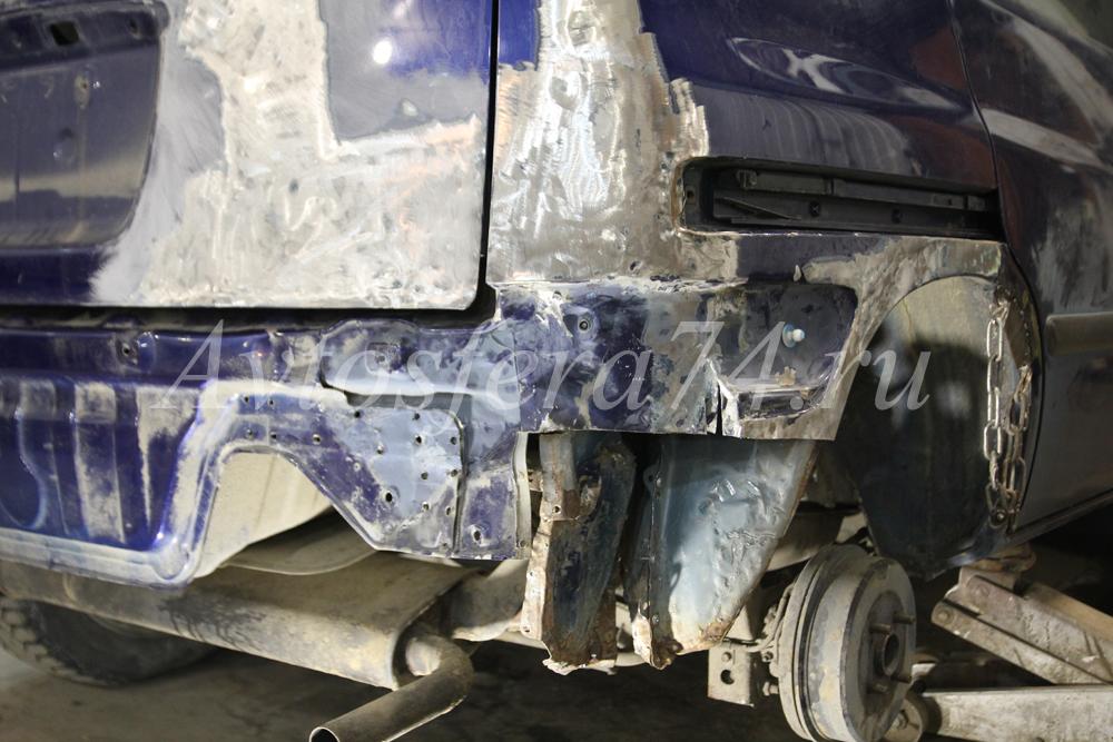 Toyota Raum до восстановление кузова