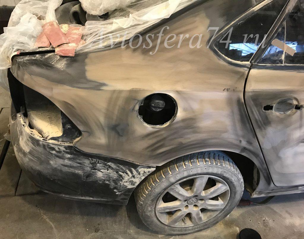Volkswagen Polo Sedan ремонт крыло дверь бампер