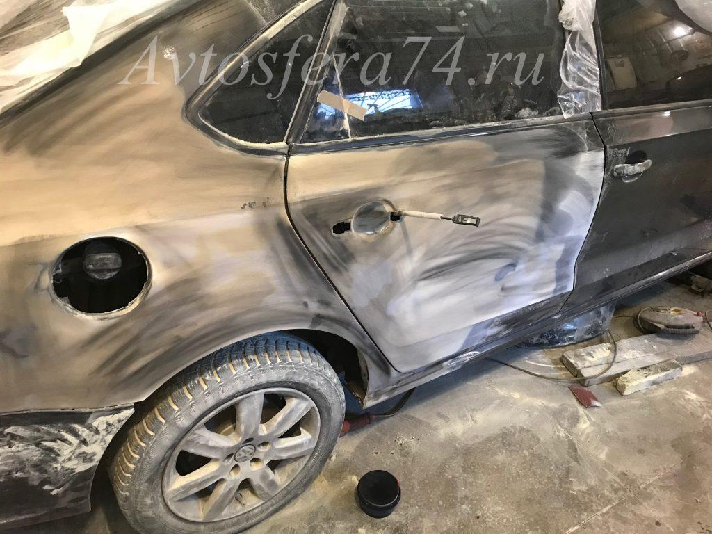 Volkswagen Polo Sedan ремонт крыло и дверь