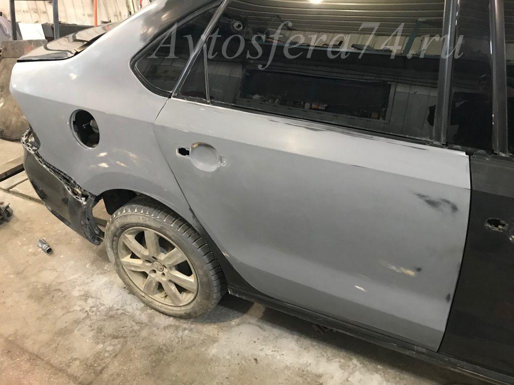 Volkswagen Polo Sedan ремонт кузова дверь