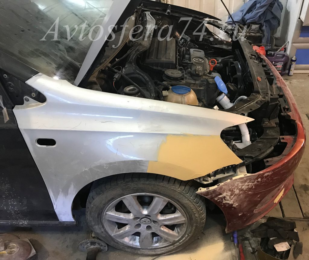 Volkswagen Polo Sedan до ремонта крыло капот