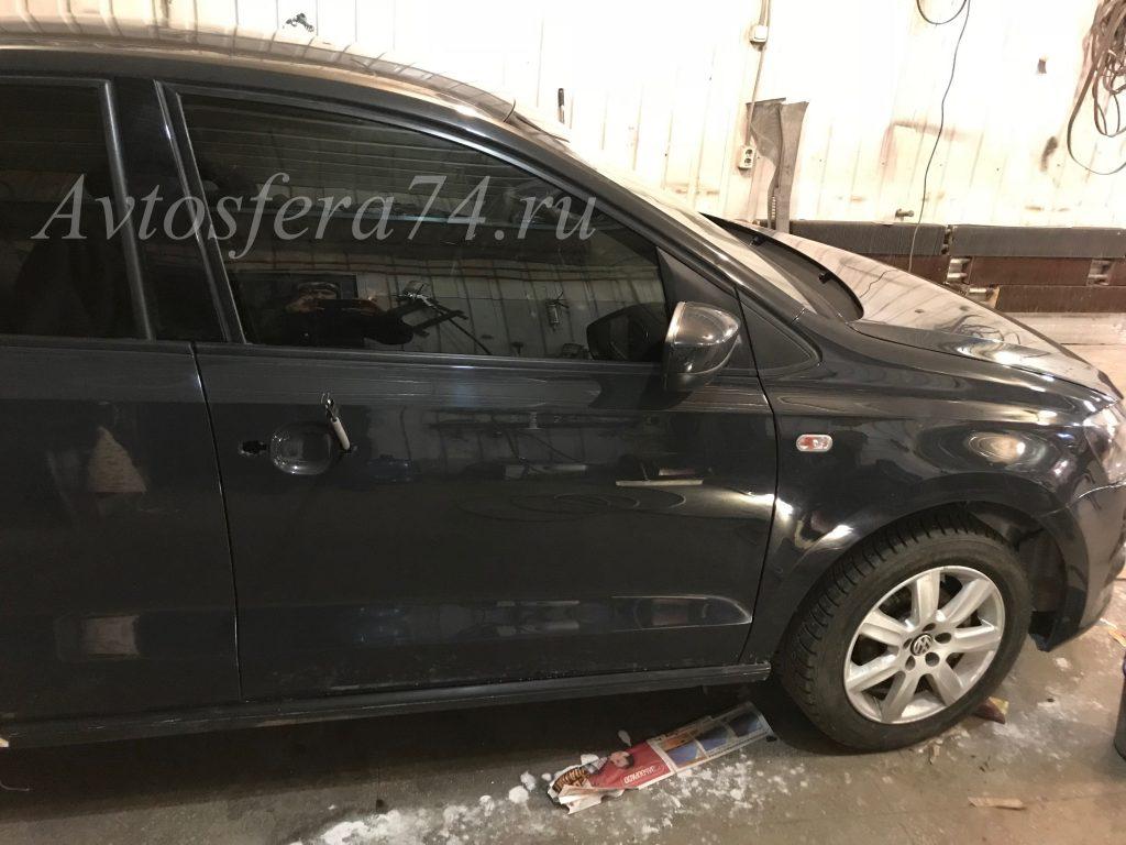 Volkswagen Polo Sedan после ремонта пассажирская дверь